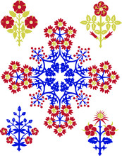 Floral Ornaments Inspired By T...