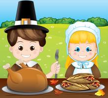 Pilgrim Thanksgiving  Meal