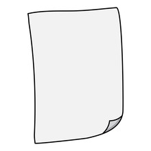 Sheet Of Paper With Folded Cor...