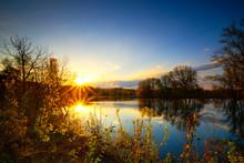 Long Exposure Sunset Or Sunris...