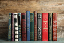 Collection Of Old Books On Woo...