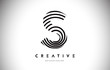 S Lines Warp Logo Design. Letter Icon Made with Circular Lines.