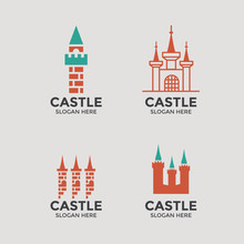 Castle Logo Or Emblem Set