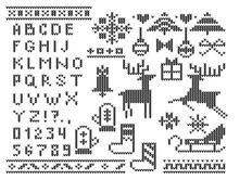 Cute Christmas Alphabet And De...