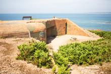 World War 2 Bunker Near La Corbiere On Jersey