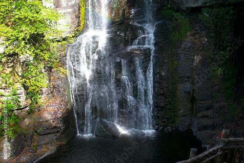 Bushkill Falls, a small waterfall in Bushkill, Pannsylvania, near the Delaware River -01