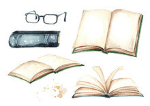Open Books And Reading Glasses...