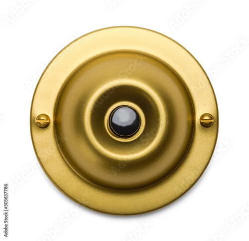 Fotografia, Obraz Brass Doorbell