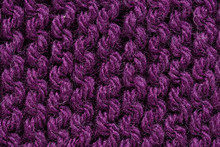 Purple Macro Yarn Close Up Knitted Texture