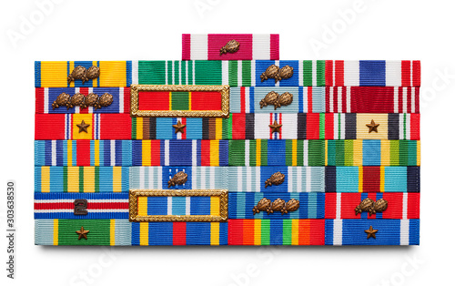 Military Ribbons Canvas Print