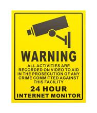 Warning Camera Sign