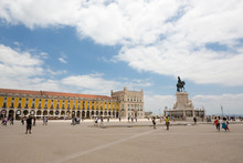 A Central Square In Lisbon