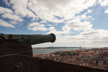 An Old Cannon Looks Out Over Lisbon