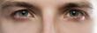 Leinwandbild Motiv Closeup of male eyes