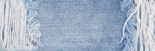 Denim Blue Jeans Fabric Banner Background