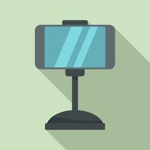 Smartphone Car Holder Icon. Fl...