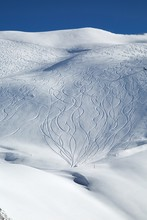 Ski Slope With Fresh Snow Curves
