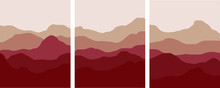 Red Mountains And Hills Minima...
