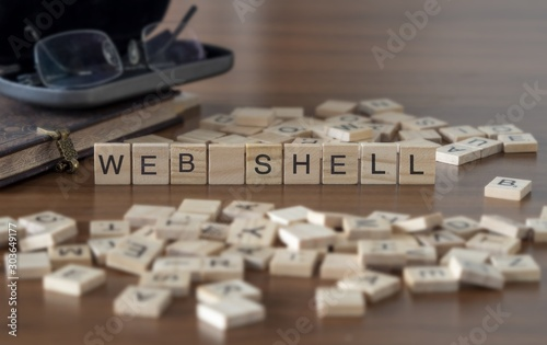 Web Shell the word or concept represented by wooden letter tiles Canvas Print