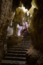 Geologic Rock Formations In A Cave In Cuba