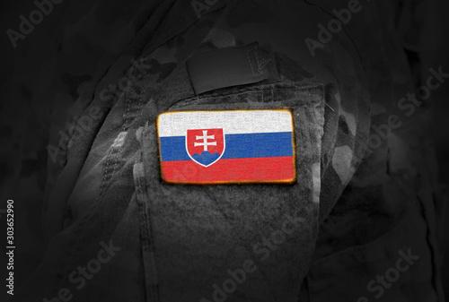 Fotomural Flag of Slovakia on military uniform