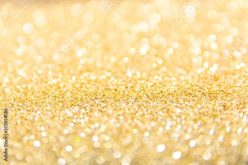 Defocused gold glitter background Canvas Print