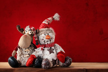 Christmas Snowman And Reindeer