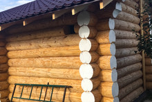 Constructed From Wooden Log Ho...
