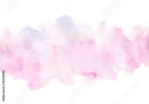 Fotografija  Abstract hand painted pink watercolor paper texture isolated background for your design, card, wallpaper,tag