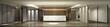 3d render of hotel reception lobby