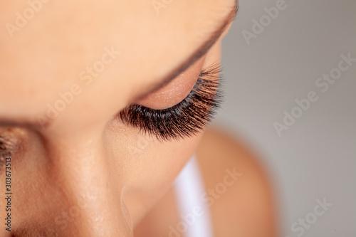Pinturas sobre lienzo  Woman Eyes with Long Eyelashes