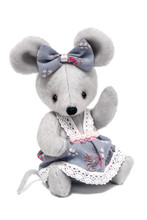 Cute Gray Plush Toy Mouse In A...