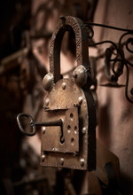 Antique Metal Padlock Handmade...