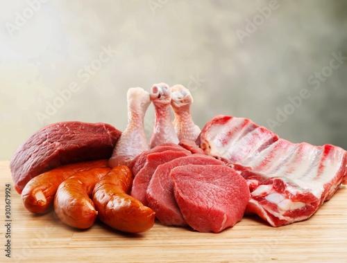 Meat. Slika na platnu
