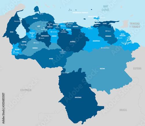 Valokuvatapetti Venezuela map