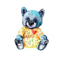 Baby Bear Wearing Babygro Wate...