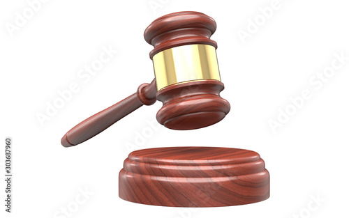 Photo Wooden Handcrafted Wood Gavel Hammer its he Sound Block for Lawyer Judge Auction Sale