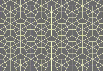 The geometric pattern with lines. Seamless vector background. Grey texture. Graphic modern pattern. Simple lattice graphic design