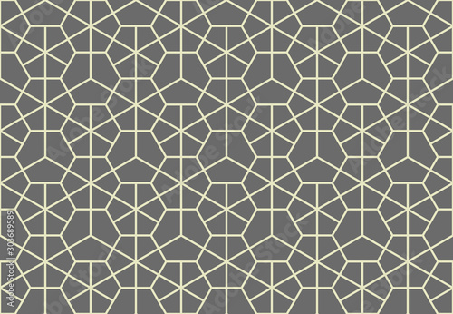 Fototapeten Künstlich The geometric pattern with lines. Seamless vector background. Grey texture. Graphic modern pattern. Simple lattice graphic design