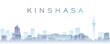 Leinwanddruck Bild - Kinshasa Transparent Layers Gradient Landmarks Skyline