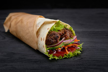 Tasty Doner Kebabs With Fresh ...