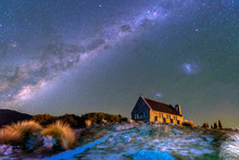 The Milky Way  Over Church Of ...