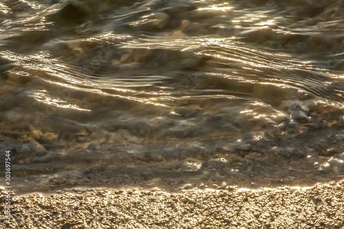 strie d'eau texture mouvement caillou sable Canvas Print