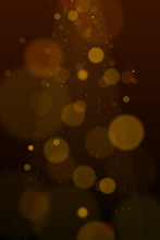 Vector Eps 10 Golden Particles. Glowing Yellow Bokeh Circles Abstract Gold Luxury Background.
