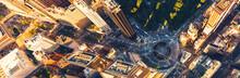 Aerial View Of Columbus Circle...