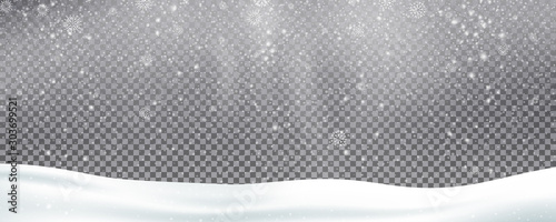 Pinturas sobre lienzo  Snow background overlay