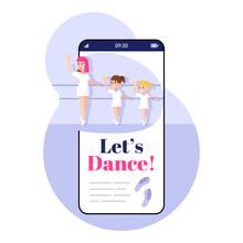 Lets Dance Smartphone App Scre...