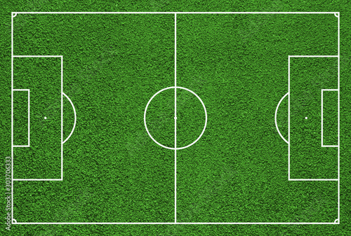 Top view of soccer field or football field. - 303706333