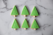 Christmas Tree Cookies Pine Tree