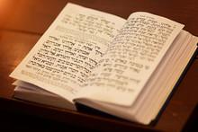 Jewish Praying Book On Table, ...